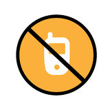 Eviti il cellulare Fotografie Stock Libere da Diritti
