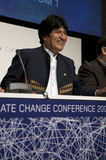Evo Morales. President of Bolivia, at COP15 (United Nations Climate Change Conference Copenhagen 2009) in Copenhagen Denmark royalty free stock photos