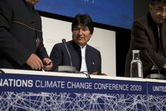 Evo Morales Royalty Free Stock Photo
