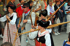 Evolene Festival Stock Photo