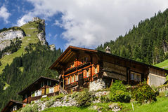 Evolene,Old houses in Switzerland Stock Photography