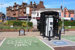 Evolt electric car rapid charging point Ayr Royalty Free Stock Photos