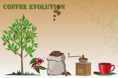 Evoltion del caffè Fotografia Stock Libera da Diritti