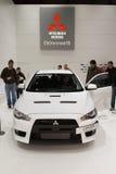 Evolução 2011 de Mitsubishi Lancer - Genebra 2011 Foto de Stock Royalty Free