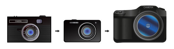 A evolução da câmera Fotos de Stock