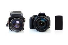 A evolução da fotografia foto de stock