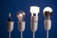 Evolução da iluminação fotografia de stock