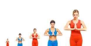 Evolução da ioga fotografia de stock