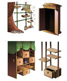 Evolução da mobília Imagem de Stock Royalty Free