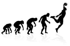 Evolução de um jogador de basquetebol ilustração stock