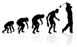 Evolução de um jogador de golfe ilustração royalty free