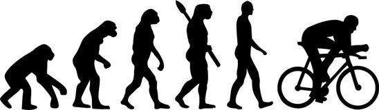 Evolução do ciclismo da bicicleta ilustração stock