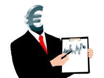 Evolução do euro Imagem de Stock