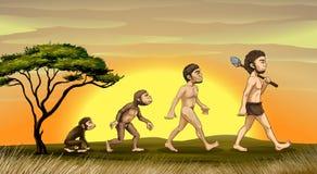 Evolução do homem Fotografia de Stock Royalty Free