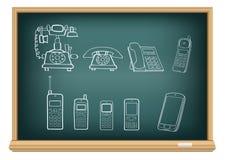 Evolução do telefone da placa Fotografia de Stock