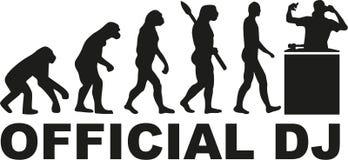 Evolução oficial do DJ ilustração royalty free