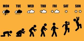 Evolução semanal da vida ativa ilustração royalty free