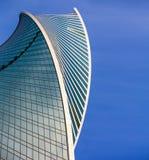 Evolución abstracta de la arquitectura Torre de la evolución de las ventanas del rascacielos en Moscú Fotografía de archivo libre de regalías