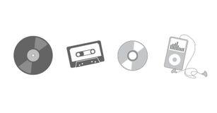 Evolución de escuchar la música Fotografía de archivo