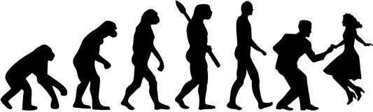 Evolución de la danza del oscilación ilustración del vector