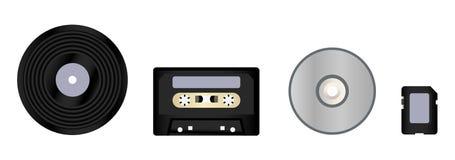 Evolución de la música Foto de archivo libre de regalías