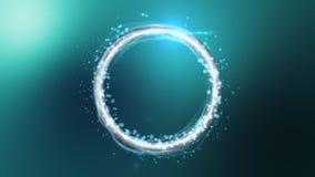 Evolución del anillo de la partícula ilustración del vector