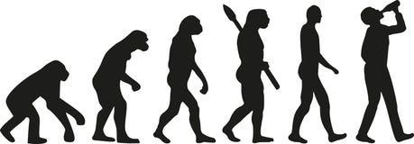 Evolución del hombre de consumición ilustración del vector