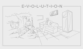 Evolución del ser humano Imagen de archivo