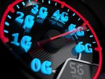Evolución del velocímetro 5G stock de ilustración