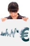 Evolución euro Fotografía de archivo