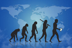 Evolución humana/crecimiento y progreso stock de ilustración