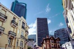 Evolución imponente de la arquitectura en Mónaco Imagen de archivo libre de regalías