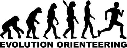 Evolución Orienteering stock de ilustración