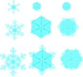 Evolución sonriente de los copos de nieve Fotos de archivo