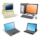 Evolución del ordenador Foto de archivo