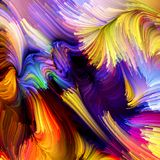 Evoluerende Vloeibare Kleur stock illustratie