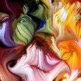Evoluerende Vloeibare Kleur Stock Afbeelding