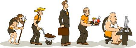 Evolução da obesidade Imagem de Stock Royalty Free