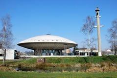 Evoluon一个飞行象茶碟的圆顶在艾恩德霍芬 库存照片