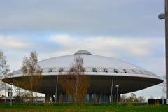 Evoluon byggnad som formas som en ufo Arkivbild