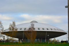 Evoluon-Gebäude, geformt wie ein UFO Stockfotografie
