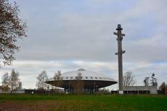 Evoluon-Gebäude, geformt wie ein UFO Stockbilder