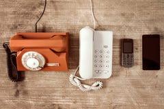 Evolutie in telecommunicaties royalty-vrije stock foto