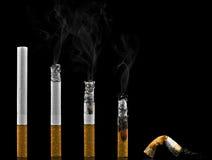 Evolutie van de roker stock foto's
