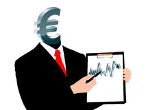 Evolutie van euro Stock Afbeelding