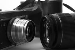 Evolutie van fotografie Stock Afbeeldingen