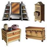 Evolutie van meubilair Stock Fotografie