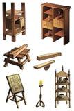 Evolutie van meubilair Stock Foto