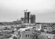 Evolutie van steden stock foto