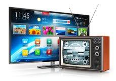 Evolutie van televisie Stock Afbeeldingen
